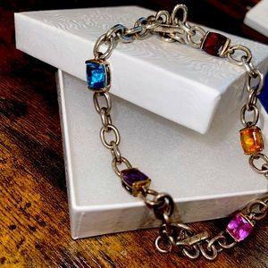"Lorenzo 18K 925 8"" Semi Precious Bracelet"